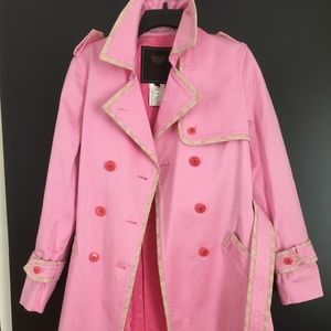 Coach unused pink trench coat
